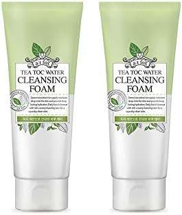 TeaToc Green Tea Water Cleansing Foam | Hypoallergenic Moisturizing Korean Cleansing Foam (2 pack)