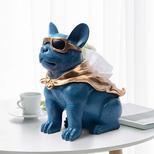 DDOQ Welpen Tissue Box Wohnzimmer Couchtisch Serviette Papier Box modernen minimalistischen Desktop niedlich Tablett (Farbe  Weiß) (Farbe   Weiß) B07M8M49ZV Toilettenpapieraufbewahrung