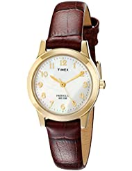 Timex Womens T21693 Essex Avenue Burgundy Croco Pattern Leather Strap Watch