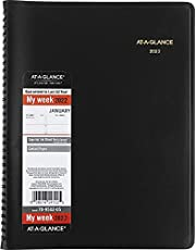 """2022 Weekly Planner & Appointment Book By At A Glance - Large 8 1/4"""" X 11"""" - Black - Professional Spiral Bound Annual Week Schedule Calendar For Women And Men 70-950"""