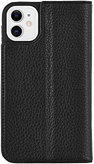 Case-Mate CM039528 iPhone 11 Folio Case - Leather Wallet Folio - 6.1 - Black Leather