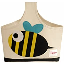 3 Sprouts Storage Caddy, Bee, Black/Yellow