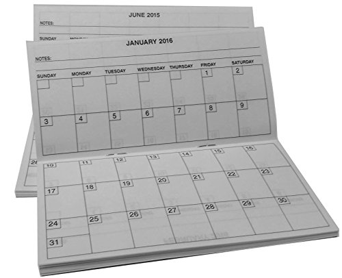 Year Pocket Calendar 2015 2016 fits Standard Sized Checkbook ...