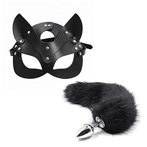 Mascara de Zorro Piel Sexy para Mujer, Silicona en Forma de Cola de Zorro B-utt an-al Pl-ùg Toys