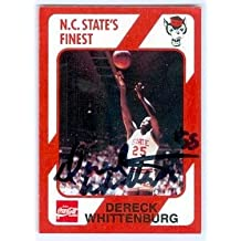 Dereck Whittenburg autographed basketball card (NC State Wolfpack) 1989 College Collection #142 - Autographed College Cards