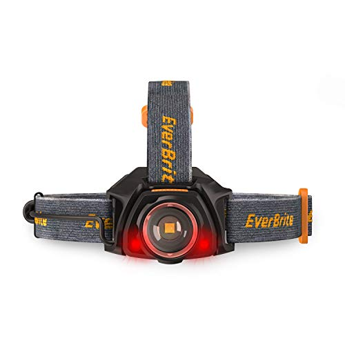 EverBrite LED Rechargeable Headlamp, Zoomable Super Bright Headlight, 10 Lighting Modes Head, Waterproof Head Lights for Camping, Hiking, Outdoors