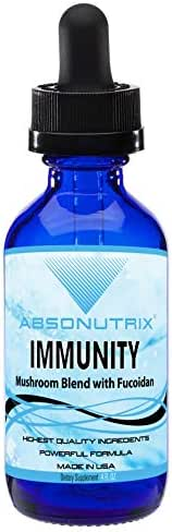 Absonutrix Immunity Mushroom Blend with Fucoidan - 4Oz - 120 Servings!