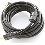 NavePoint HDMI Male to Male Cable Black Gold Connectors 12 Ft