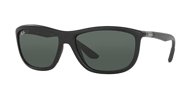 59eff6b99e00d ... official store ray ban rb8351f sunglasses 622071 60 matte black frame  grey green 907be b14fe