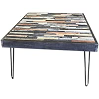 Beautiful Mosaic Coffee Table with Hairpin legs. 30x30x18H