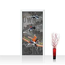 """Photo wallpaper Door   DISNEY Toon Planes Dusty Cartoon airplanes   self-adhesive PREMIUM PLUS 35.8""""W by 83""""H (91x211cm)   """"no. 1052"""" by liwwing (R)   Photo Wall Mural Posters & Prints"""
