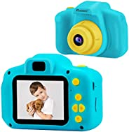 PROGRACE Kids Camera Children Cameras for Boys Birthday Toy Gifts 4-12 Year Old Kid Action Camera for Kids Tod