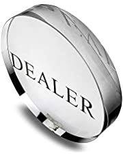 circulor Fichas De Póker, Token Card Dealer Poker Crystal Juego Chips Todo Incluido Accesorios para Mesas De Juegos
