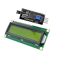 Industry Park 1602 16X2 Character LCD Module Yellow Display + IIC/I2C/TWI/SP  I Serial Interface for Arduino UNO R3 MEGA2560