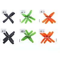 HQ PROP. 4.0 x 4.0 (4040). Quad-Blade. Black, Green and Orange 6 CW and 6 CCW.