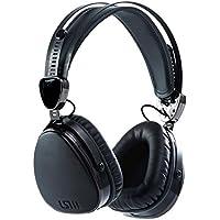 LSTN Wireless Troubadour Black Matte Wood On-Ear Headphones with On-Board Microphone, Volume Control