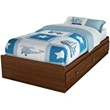South Shore Willow Collection Twin Mates Bed 39-Inch, Sumptous Cherry