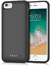 kilponen Akku Hülle für iPhone 6 6S 7 8,[6000mAh] Tragbare Ladehülle Ladebatterie, Externer Batterie Zusatzakku Wiederaufladbare Schutzhülle Power Bank Akku Case für iPhone 6 6S 7 8 (4,7 Zoll)