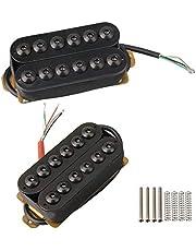Yibuy Model HOC-BK-TMB Black Metal Double Coil Guitar Pickups Humbucker for Electric Guitar