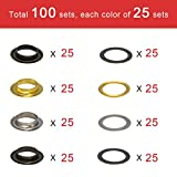 1/2 Inch Grommet Kit 100 Sets, Luxiv Grommets