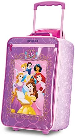 American Tourister Kids' Disney Softside Upright Luggage, Princess 2, Carry-On 18-Inch