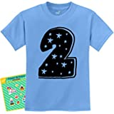 TeeStars Two Years Old Cute Birthday Gift Idea - I'm 2 Superstar Kids T-Shirt 2T California Blue