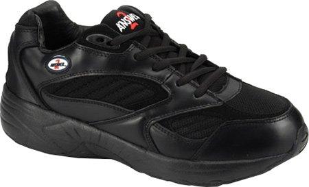 Apis Answer2 554-3V Men's Therapeutic Extra Depth Shoe Leather/Mesh Lace-up B00WY576GA 9.5 D(M) US|Black