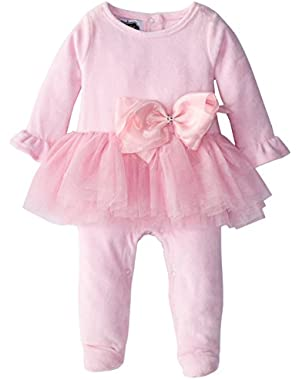 Baby-Girls Newborn Velour Sleep with Tutu