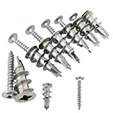 Ansoon Zinc Self-Drilling Drywall Anchors with Screws Kit, 50 Pieces