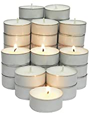 CandleNScent 5hr Soy Tea Lights Candles|100 Tealight Candles in White Cup - Decorations for Wedding, Birthday, Holiday Party | White Soy Wax in Cups
