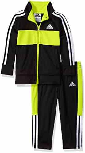 adidas Baby Boys Jacket Set, Black/Green, 24M
