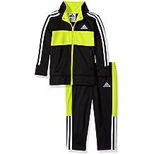 adidas Baby Boys Jacket Set, Black/Green, 3M