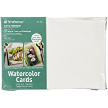 Strathmore 105-210 Watercolor Cards, Full Size Cold Press, 50 Cards & Envelopes
