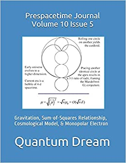 Prespacetime Journal Volume 10 Issue 5: Gravitation, Sum-of-Squares Relationship, Cosmological Model, & Monopolar Electron