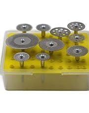"Diamond Cutting Wheel, 10PCS & 5PCS 1/8"" Diamond Cutting Discs Cut-Off Wheel Blades Set for Dremel Rotary"