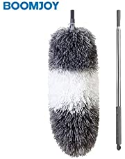 """BOOMJOY Extendable Microfiber Duster, Telescoping Stainless Steel Pole, Detachable Bendable Head, Washable, 96.5"""""""
