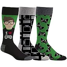 Densley & Co Men's Retro Gamer 3-Pack Dress Socks