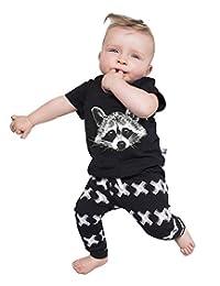 Newborn Fox Baby Girls Boys Tops T-shirt+pants Leggings 2pcs Outfits Set