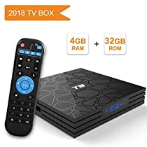 YAGALA T9 Android 8.1 TV Box 4GB RAM 32GB ROM RK3328 Bluetooth 4.1 Quad-Core Cortex-A53 64 Bits Support 2.4G WiFi 4K 3D Ultra HD HDMI H.265