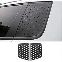 FMtoppeak 2 Pcs Decoration Sun Shield Aluminum Alloy C Pillar Window Glass Sports Plate Molding Trim For Jeep Renegade 2014 UP