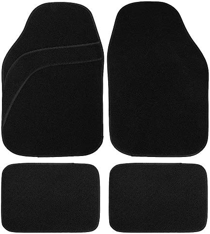 MUSEE Universal Car Floor Mat Carpet Fit for Car SUV Van & Truck All Weather Protection (Black)