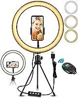 ELEGIANT 10,2 Pouces LED Lumière Anneau avec Trépied, Perche Selfie LED Ring Light pour Vidéo/Photo/Youtube/Maquillage...