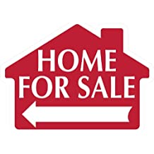 HOME FOR SALE Sign with Arrow - House Shape Corrugated Sign - STAKES SOLD SEPARATELY