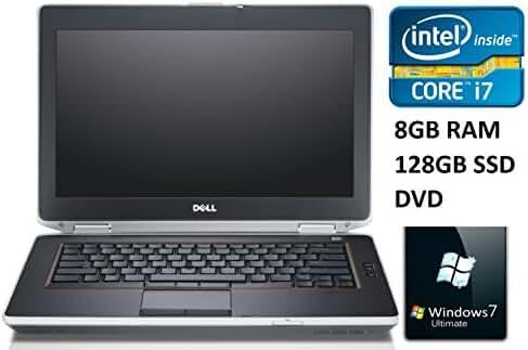 "Dell Latitude E6430S 14"" Premium Business Laptop PC, Intel Core i7 Processor, 8GB RAM, 128GB SSD, DVD ROM, Webcam, Windows 7 Ultimate (Certified Refurbished)"