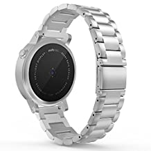Gear S2 Classic Watch Band, MoKo Universal Stainless Steel Watch Band Strap Bracelet with spring pin for Samsung Gear S2 Classic SM-R732 & SM-R735 / Motorola Moto 360 2nd (Men's 42mm 2015), SILVER