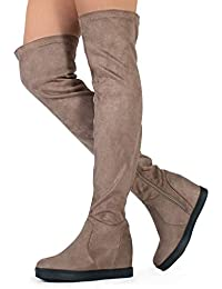 6b78cf86a3148 Amazon.com: Beige - Over-the-Knee / Boots: Clothing, Shoes & Jewelry