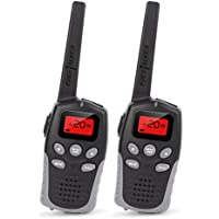 Walkie Talkies, Two Way Radios Long Range Walkie Talkies with 22 Channel FRS/GMRS, Back-lit Display, (1 Pair Black)