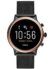 ساعة جوليانا هير الرقمية الذكية للنساء بسوار ستانلس ستيل ومينا متعدد الالوان من فوسيل- FTW6036