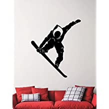 Snowboarder Wall Sticker Snowboard Decal Home Interior Design Extreme Sports Room Decor Bedroom Wall Art Removable Mural 5cnz