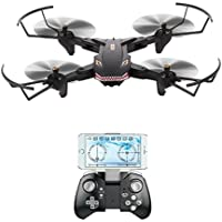 VISUO XS809S 720P WIFI FPV Foldable Drone with HD Wide Angle Camera RC Quadcopter RTF - Black